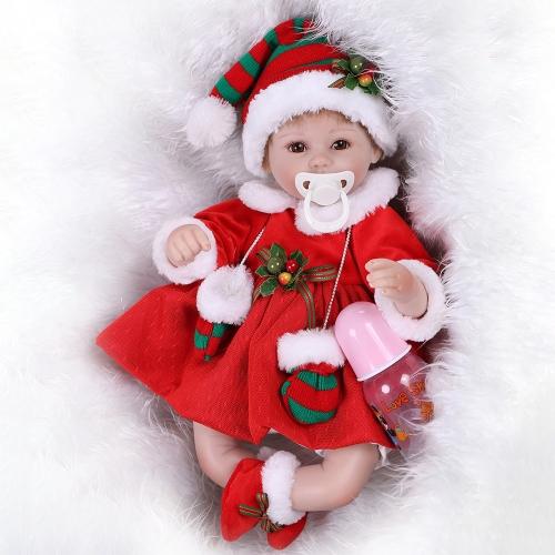 16 polegadas Girl Soft Body Silicone Realistic Baby Doll Play House Game Brinquedos