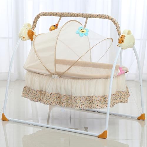 Electric Baby Bassinet Cradle Swing Rocking Music Remoter Control Sleeping Basket Bed Crib For Newborn Infant CamelHome &amp; Garden<br>Electric Baby Bassinet Cradle Swing Rocking Music Remoter Control Sleeping Basket Bed Crib For Newborn Infant Camel<br>