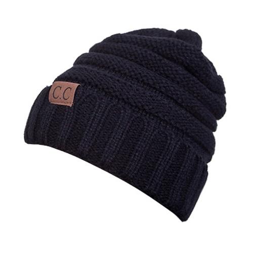 Sombrero de invierno unisex tejido grueso grueso