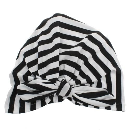 Striped Bowknot Baby Girl Cap Beanie