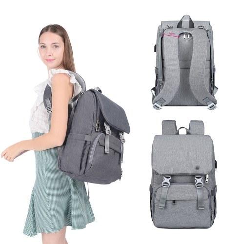 Большой сумка для пеленок с водонепроницаемым рюкзаком для путешествий