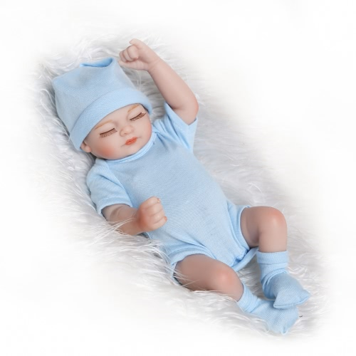 Reborn Baby Doll Girl Baby Bath Toy Full Silicone Body Eyes Close Sleeping Baby doll With Clothes 10inch 25cm Lifelike Cute GiftsHome &amp; Garden<br>Reborn Baby Doll Girl Baby Bath Toy Full Silicone Body Eyes Close Sleeping Baby doll With Clothes 10inch 25cm Lifelike Cute Gifts<br>