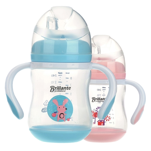 Haierbaby Brillante Baby Sippy Cup Transition Cup Trainer Feeding Bottle With Handles &amp; Soft Spout For Toddlers Child Kids BPA FreHome &amp; Garden<br>Haierbaby Brillante Baby Sippy Cup Transition Cup Trainer Feeding Bottle With Handles &amp; Soft Spout For Toddlers Child Kids BPA Fre<br>