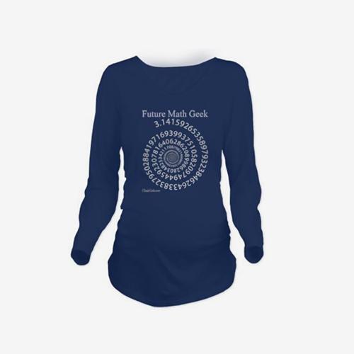 Maternity Shirt Long Sleeve O-Neck Future Math Geek Print Funny Pregnancy Mom Tops Tee Black LHome &amp; Garden<br>Maternity Shirt Long Sleeve O-Neck Future Math Geek Print Funny Pregnancy Mom Tops Tee Black L<br>