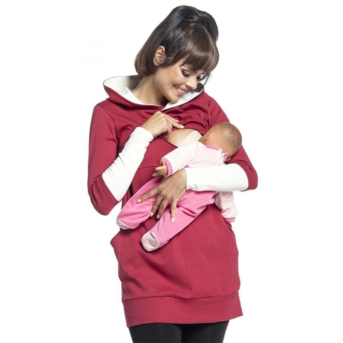 Womens Maternity Nursing Breastfeeding Hoodie Long Sleeves Sweatshirt Top Clothes Red SHome &amp; Garden<br>Womens Maternity Nursing Breastfeeding Hoodie Long Sleeves Sweatshirt Top Clothes Red S<br>