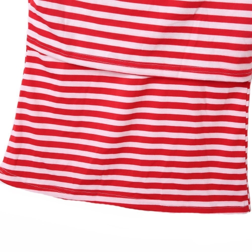 Womens Maternity Striped Nursing Breastfeeding Shirt Boat Neckline Top Clothes Red SHome &amp; Garden<br>Womens Maternity Striped Nursing Breastfeeding Shirt Boat Neckline Top Clothes Red S<br>