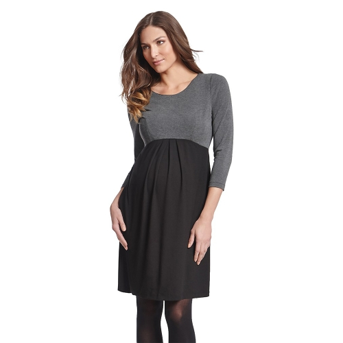 Women Maternity Dress Ruched Robe Round Neck 3/4 Sleeve Pregnancy Clothes Black SHome &amp; Garden<br>Women Maternity Dress Ruched Robe Round Neck 3/4 Sleeve Pregnancy Clothes Black S<br>