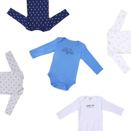 5pcs Baby Clothes Set For Boy 100% Cotton Long Sleeve Rompers Baby Clothing Jumpsuit Letter Pattern 3MHome &amp; Garden<br>5pcs Baby Clothes Set For Boy 100% Cotton Long Sleeve Rompers Baby Clothing Jumpsuit Letter Pattern 3M<br>