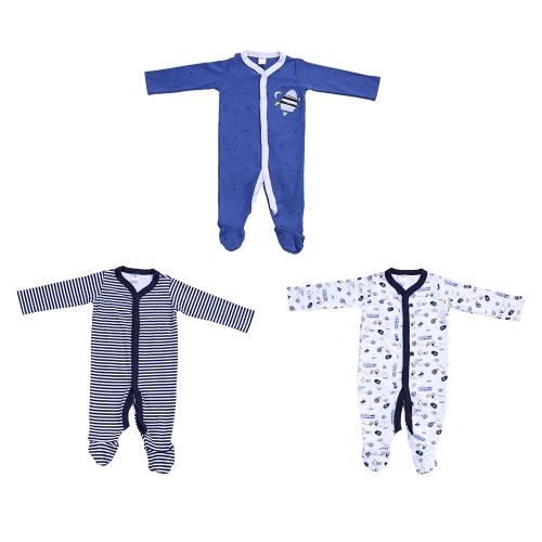 3pcs Baby Clothes Set For Boy 100% Cotton Jumpsuit Footsies Rompers Baby Clothing Car Pattern 3MHome &amp; Garden<br>3pcs Baby Clothes Set For Boy 100% Cotton Jumpsuit Footsies Rompers Baby Clothing Car Pattern 3M<br>