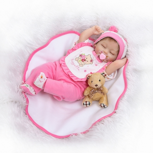 16inch Silicon Reborn Toddler Doll Sleeping Baby Doll Girl Eyes Close With Hair Clothes Boneca Lifelike Cute Gifts ToyHome &amp; Garden<br>16inch Silicon Reborn Toddler Doll Sleeping Baby Doll Girl Eyes Close With Hair Clothes Boneca Lifelike Cute Gifts Toy<br>