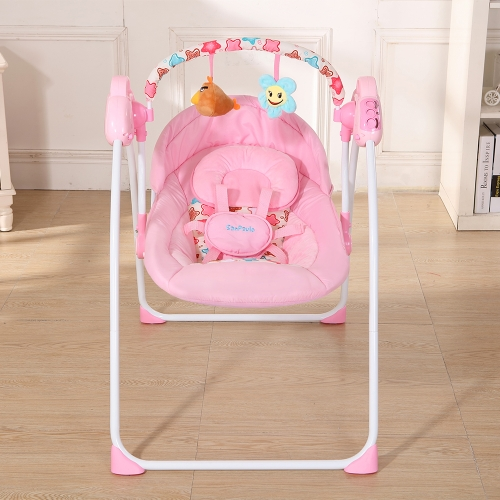 Electric Baby Cradle Swing Rocking Remote controller Chair Sleeping Basket Bed Crib For Newborn Infant PinkHome &amp; Garden<br>Electric Baby Cradle Swing Rocking Remote controller Chair Sleeping Basket Bed Crib For Newborn Infant Pink<br>
