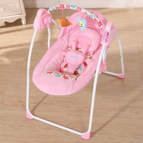 Electric Baby Cradle Swing Rocking Connect Mobile Play Music Chair Sleeping Basket Bed Crib For Newborn Infant PinkHome &amp; Garden<br>Electric Baby Cradle Swing Rocking Connect Mobile Play Music Chair Sleeping Basket Bed Crib For Newborn Infant Pink<br>
