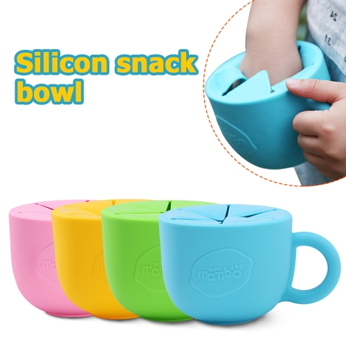 Baby Infant Snack Bowl Silicone Cup Kid Feeding Food Bowl Handle No-Spill Snack Storage Container Children Plate Tableware BlueHome &amp; Garden<br>Baby Infant Snack Bowl Silicone Cup Kid Feeding Food Bowl Handle No-Spill Snack Storage Container Children Plate Tableware Blue<br>