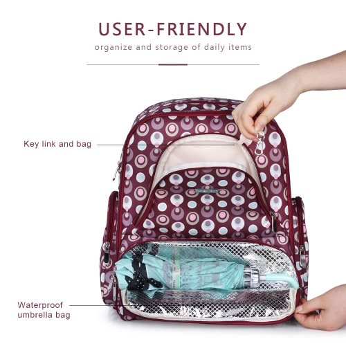 Multi-function Baby Diaper Bag Large Capacity 13 Pockets Feeding Bottle Backpack Clothes Toys Organizer with Insulated Pockets StrHome &amp; Garden<br>Multi-function Baby Diaper Bag Large Capacity 13 Pockets Feeding Bottle Backpack Clothes Toys Organizer with Insulated Pockets Str<br>