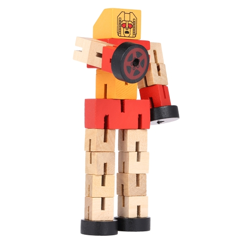 Wooden Transformation Robot Cars Building Blocks Toys Gifts Early Educational Intelligence For Kid ChildHome &amp; Garden<br>Wooden Transformation Robot Cars Building Blocks Toys Gifts Early Educational Intelligence For Kid Child<br>