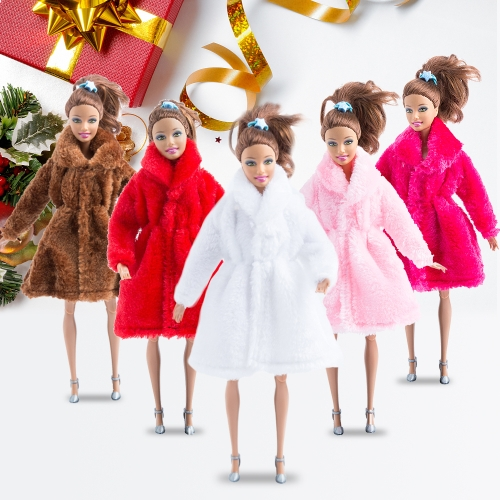 Fashion Barbie Toy Clothes Accessory Winter Plush Coat for Barbie Doll Clothes DressingHome &amp; Garden<br>Fashion Barbie Toy Clothes Accessory Winter Plush Coat for Barbie Doll Clothes Dressing<br>