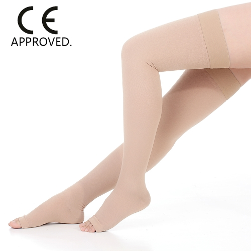 40-50mmHg Graduated Compression Stockings Thigh High Open-Toe 1 Pair Medical Quality Firm Pressure Support Hose Compression SocksHealth &amp; Beauty<br>40-50mmHg Graduated Compression Stockings Thigh High Open-Toe 1 Pair Medical Quality Firm Pressure Support Hose Compression Socks<br>