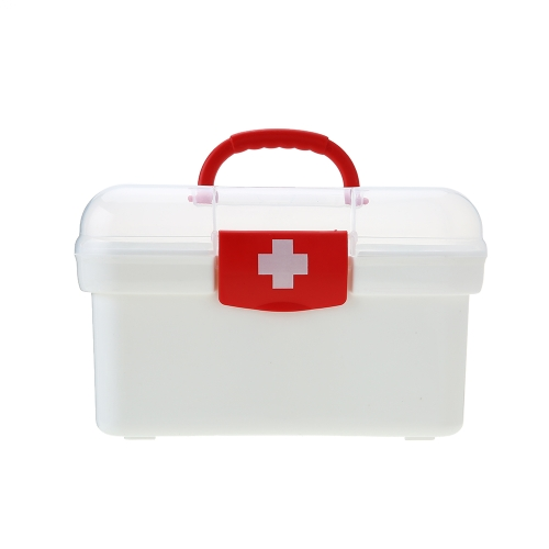 Carevas Plastic First Aid Medicine Storage Box Organizer Handhled Family Emergency Kit Storage Case with Detachable TrayHealth &amp; Beauty<br>Carevas Plastic First Aid Medicine Storage Box Organizer Handhled Family Emergency Kit Storage Case with Detachable Tray<br>