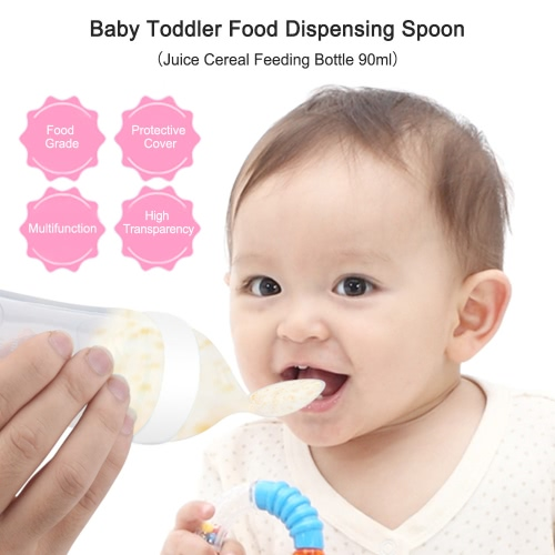 Baby Toddler Food Dispensing Spoon Juice Cereal Feeding Bottle 90mlHome &amp; Garden<br>Baby Toddler Food Dispensing Spoon Juice Cereal Feeding Bottle 90ml<br>