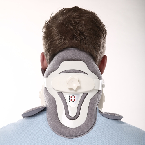 Carevas Cervical Traction Device Collar Neck Brace Support for Neck & Upper Back Pain Relief Immobilization FDA & CE Approved