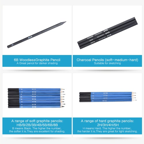 26pcs Professional Drawing Sketch Pencil Kit Set Including Sketch Pencils Graphite &amp; Charcoal Pencils Sticks Erasers Sharpeners foComputer &amp; Stationery<br>26pcs Professional Drawing Sketch Pencil Kit Set Including Sketch Pencils Graphite &amp; Charcoal Pencils Sticks Erasers Sharpeners fo<br>