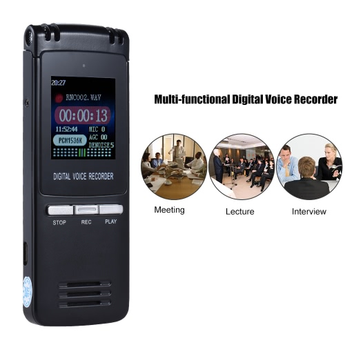 SK-992 8GB Multi-functional Digital Audio Voice Recorder MP3 Player 1536Kbps Noise-deduction Auto Recording A-B Repeat AlarmComputer &amp; Stationery<br>SK-992 8GB Multi-functional Digital Audio Voice Recorder MP3 Player 1536Kbps Noise-deduction Auto Recording A-B Repeat Alarm<br>