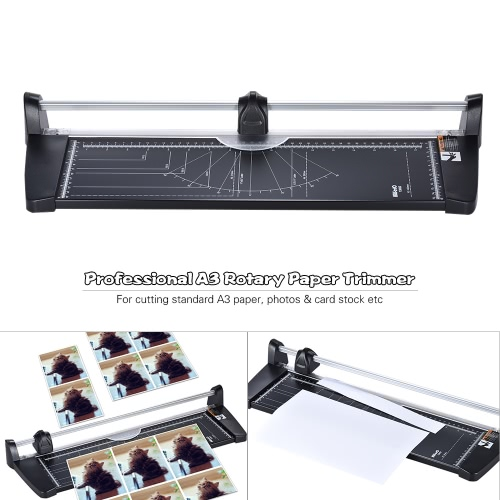 Professional A3 Rotary Paper Trimmer Cutters Guillotine with 10 Sheets Cutting Capacity for School Business Office SuppliesComputer &amp; Stationery<br>Professional A3 Rotary Paper Trimmer Cutters Guillotine with 10 Sheets Cutting Capacity for School Business Office Supplies<br>