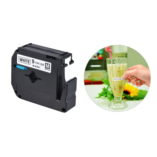 Black on White Label Tape Compatible for Brother PT-65/PT-70/PT80  Label Printer 9mm * 8mComputer &amp; Stationery<br>Black on White Label Tape Compatible for Brother PT-65/PT-70/PT80  Label Printer 9mm * 8m<br>