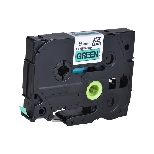Laminated Label Tape Black on Green Compatible for Brother P-touch Label Printer  PT-1010/PT-2100/PT-18R/PT-E200/PT-9500 9mm * 8mComputer &amp; Stationery<br>Laminated Label Tape Black on Green Compatible for Brother P-touch Label Printer  PT-1010/PT-2100/PT-18R/PT-E200/PT-9500 9mm * 8m<br>