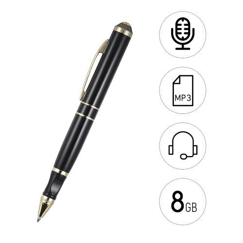 8GBボイスレコーダーペンUSBケーブル充電式ペン書き込み可能