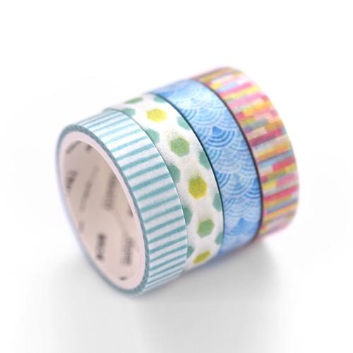 4pcs ensemble de ruban de papier de masquage décoratif de base