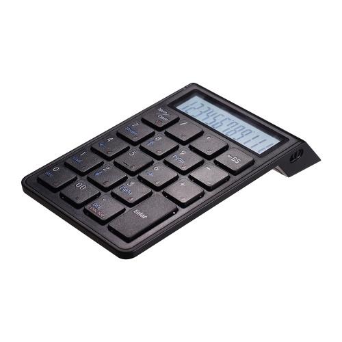 Clavier et calculatrice numériques intelligents rechargeables BT 19 touches portables 2 en 1 sans fil BT 19