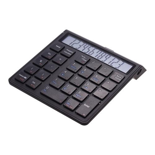 ポータブル2-in-1ワイヤレスBT 28キー充電式スマートテンキーパッドキーボード&電卓