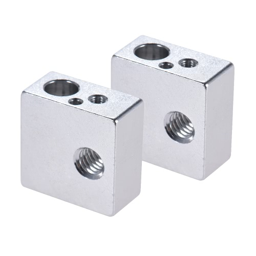 2pcs Aluminum Heater Block All-Metal 20 * 20 * 10mm for MK7 MK8 Extruder RepRap Prusa i3 DIY 3D PrinterComputer &amp; Stationery<br>2pcs Aluminum Heater Block All-Metal 20 * 20 * 10mm for MK7 MK8 Extruder RepRap Prusa i3 DIY 3D Printer<br>
