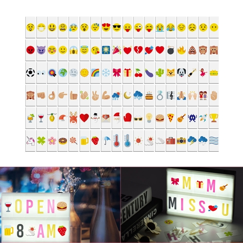 108pcs Colorful Interchangeable Emotion Symbols Characters Cards Free Combination for DIY LED Cinema Light Box Message Board for BComputer &amp; Stationery<br>108pcs Colorful Interchangeable Emotion Symbols Characters Cards Free Combination for DIY LED Cinema Light Box Message Board for B<br>