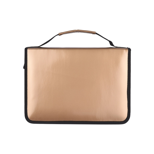 95b6fb7d3d4b Slots Gold Pencil Bag Case Colored Pencil Organizer PU Leather Cosmetic  Brush Pouch for Artists Student