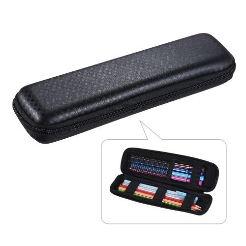 Pen Pencil PPT Pointer Holder Makeup Brush Bag EVA Hard Shell Case Stationery Pouch Box Black