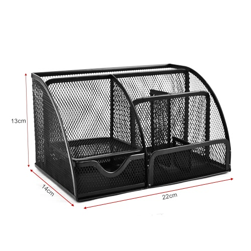 7 Storage Compartments Multi-functional Mesh Desk Organizer Pen Holder Stationery Storage Container Box Collection Office School SComputer &amp; Stationery<br>7 Storage Compartments Multi-functional Mesh Desk Organizer Pen Holder Stationery Storage Container Box Collection Office School S<br>