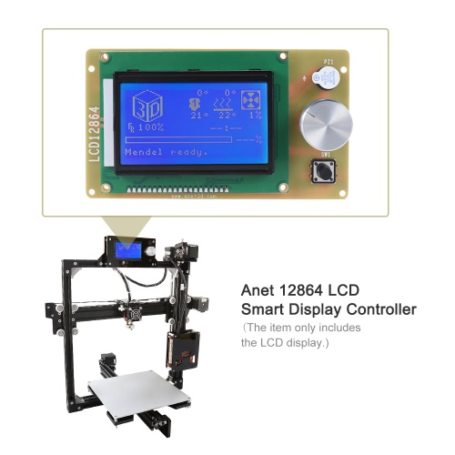 Anet 12864 LCD Smart Display Screen Controller Module with Cable for RAMPS 1.4 Arduino Mega Pololu Shield Arduino Reprap 3D PrinteComputer &amp; Stationery<br>Anet 12864 LCD Smart Display Screen Controller Module with Cable for RAMPS 1.4 Arduino Mega Pololu Shield Arduino Reprap 3D Printe<br>