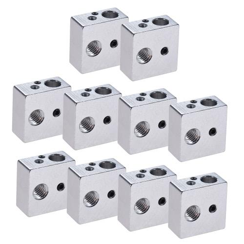 10pcs Aluminum Heater Block All-Metal 20 * 20 * 10mm for MK7 MK8 Extruder RepRap Prusa i3 DIY 3D Printer Hot EndComputer &amp; Stationery<br>10pcs Aluminum Heater Block All-Metal 20 * 20 * 10mm for MK7 MK8 Extruder RepRap Prusa i3 DIY 3D Printer Hot End<br>