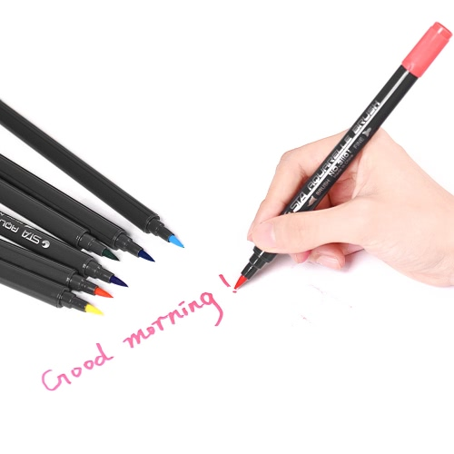 12 Colors/ Set Marker Marking Pen Twin Tip Brush Sketch Pens Water Based Ink for Graphic Manga Drawing DesigningComputer &amp; Stationery<br>12 Colors/ Set Marker Marking Pen Twin Tip Brush Sketch Pens Water Based Ink for Graphic Manga Drawing Designing<br>