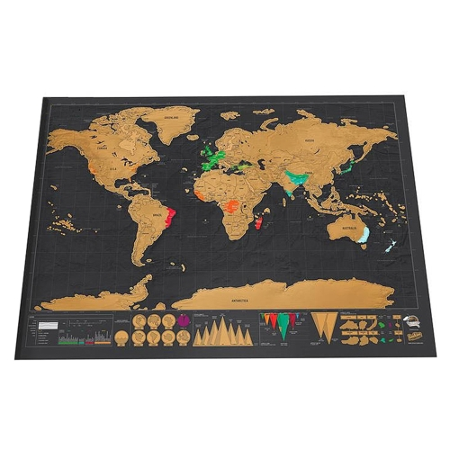 Scratch World Map Travel Edition Original 42 * 30cm