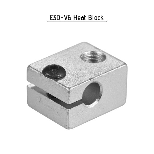 Aluminum V6 Heat Block for V6 Extruder Hotend Hot End Heating Accessories 20 * 16 * 12mm for Makerbot 3D Printer