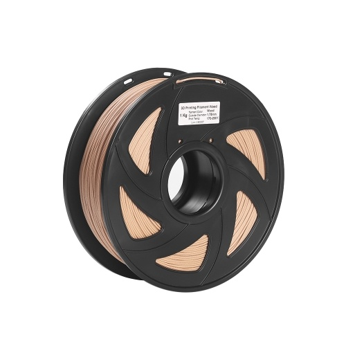 Madeira do filamento da impressora 3D + precisão dimensional do carretel do PLA 1.75mm 1kg +/- 0.02mm