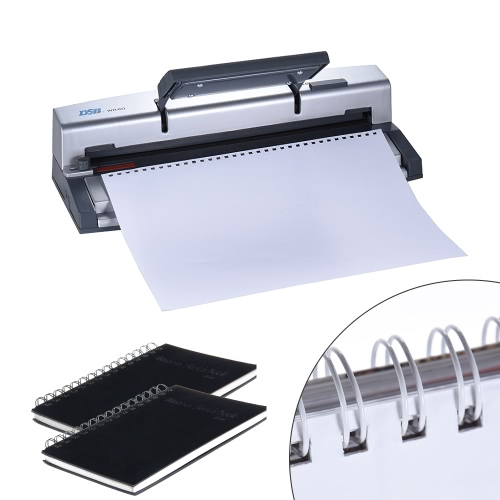 DSB WR-60 A4 Paper Puncher + Binder Punch Wire Binding Machine 34/32 Holes, 6 Sheets Punching, 45 Sheets Binding, Support 6.4mm WiComputer &amp; Stationery<br>DSB WR-60 A4 Paper Puncher + Binder Punch Wire Binding Machine 34/32 Holes, 6 Sheets Punching, 45 Sheets Binding, Support 6.4mm Wi<br>
