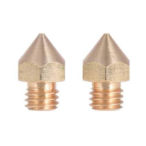 2pcs Brass Nozzle Extruder 3D Printer Head 0.5mm Output for 1.75mm &amp; 3mm Filament for Makerbot Anet RepRap Prusa i3Computer &amp; Stationery<br>2pcs Brass Nozzle Extruder 3D Printer Head 0.5mm Output for 1.75mm &amp; 3mm Filament for Makerbot Anet RepRap Prusa i3<br>