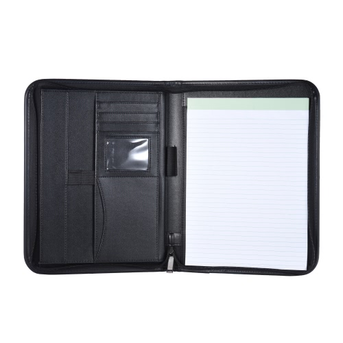 Multifunctional Professional Business Portfolio Padfolio Folder Document Case Organizer A4 PU Leather Zippered Closure with BusineComputer &amp; Stationery<br>Multifunctional Professional Business Portfolio Padfolio Folder Document Case Organizer A4 PU Leather Zippered Closure with Busine<br>
