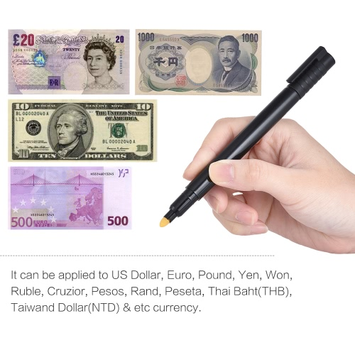 Counterfeit Money Detector Pen Fake Banknote Tester Currency Cash Checker Marker for US Dollar Bill Euro Pound Yen WonComputer &amp; Stationery<br>Counterfeit Money Detector Pen Fake Banknote Tester Currency Cash Checker Marker for US Dollar Bill Euro Pound Yen Won<br>