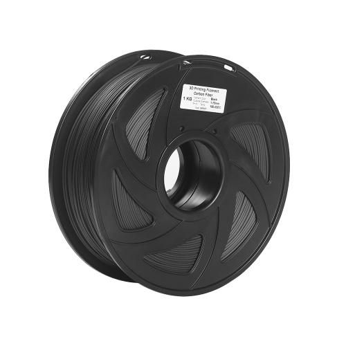 Filamento stampante 3D in fibra di carbonio + PLA 1,75 mm Precisione dimensionale della bobina di 1 kg +/- 0,02 mm