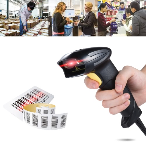 Wired Automatic Handheld Laser Barcode Scanner Reader USB2.0 Wired for Supermarket Library Express Company Retail Store WarehouseComputer &amp; Stationery<br>Wired Automatic Handheld Laser Barcode Scanner Reader USB2.0 Wired for Supermarket Library Express Company Retail Store Warehouse<br>